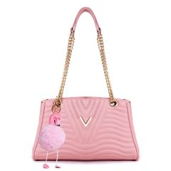 Classical Design Genuine Woman Pink Leather flower Bags