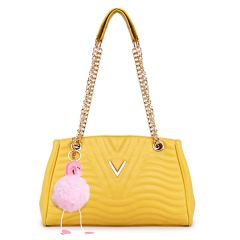 Classical Design Genuine Woman Yellow Leather flower Bags