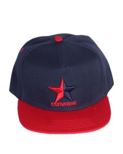 Converse Tip Off Baseball Adjustable Cap Navy Blue Mix With Red