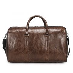 Exquisite Multi-Dimensional Leather Travel Bag- Brown