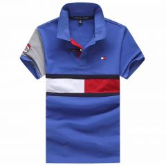 Tommy Hilfiger Blue Short Sleeve Flag Polo Shirt