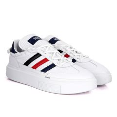Adidas Lvy-Park Black, Red, Blue Stripe Designed Sneakers