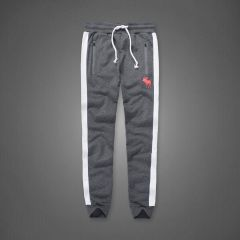 Abercrombie And Fitch Embossed Bull Designed Dual Colored Joggers- Grey