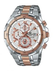 Casio Edifice Efr Stainless Silver and Gold Steel Gent Watch