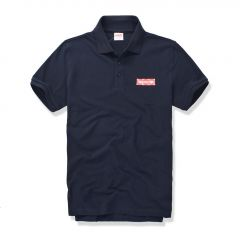 Supreme Custom Fit Inscripted Logo with Dots- Navy Blue