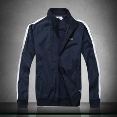 Lacoste Men's Lightweight Hand Striped Jacket- NavyBlue