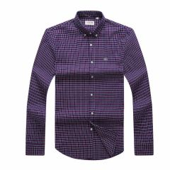 Lacoste Men's Slim Fit Cotton Twill Checkered Shirt