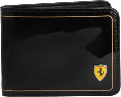 Ferrari Original Men's Black Shine Leather Wallet