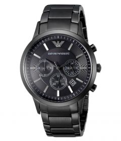 Emporio Armani Timeless Black Steel Bracelet Watch
