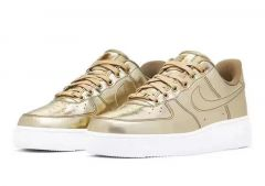 N A F 1 07 Patent Liquid Gold Men's Sneakers