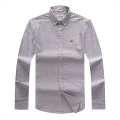 Lacoste Classic Fit White Dot Grey Longsleeve Shirt