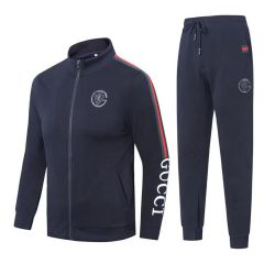 Gucci Front Embroided Logo Black Cotton Tracksuits