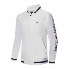 Tommy Hilfiger Blue Collar Strap White Tracksuit