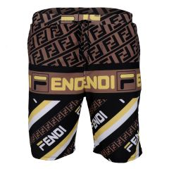 Fendi Blocked Colors Lightweight Short-Multi Color