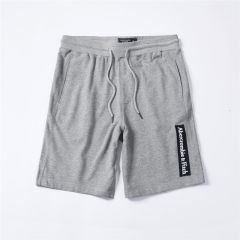 Abercrombie And Fitch Logo Embroidery Organic Cotton Shorts-Ash
