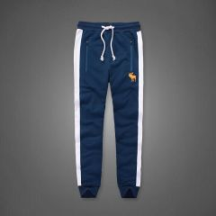 Abercrombie And Fitch Cuff Tapered Joggers-Navy Blue