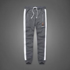 A&F Embroidered Bear Logo Designed Grey Joggers