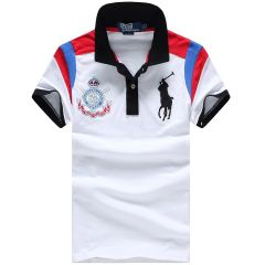 RL Custom Fitted Athlectic Division White Polo Shirt
