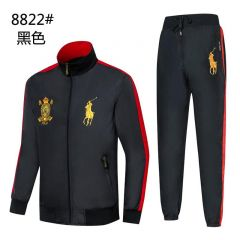 Polo PRLCCR  Big Pony Black And Red Sport Tracksuit